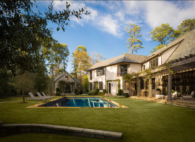 Outdoor Decor Ideas French Country Backyard Pool and Patio