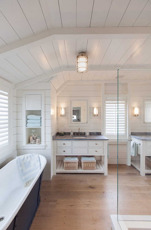 Bathroom Wood Flooring. Bathroom with wooden floor. Should we have wooden floor in the bathroom? This bathroom flooring is newly sawn white oak commonly referred to as