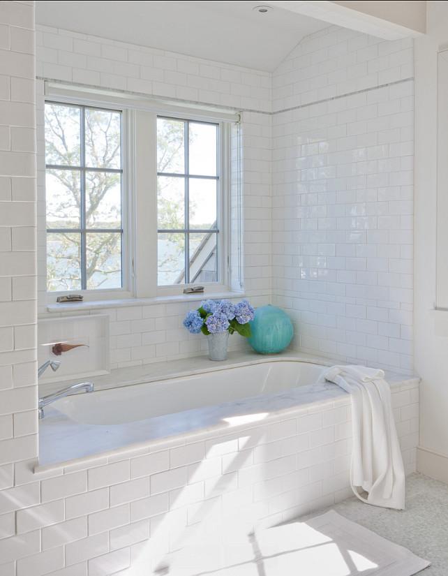 Classic Shingle Beach Cottage with Neutral Interiors ... on Bathroom Ideas Subway Tile  id=39125