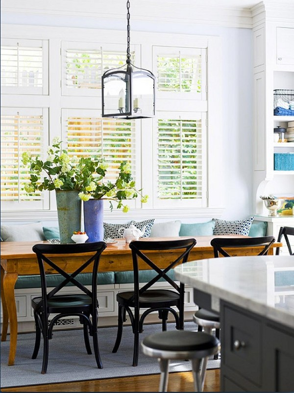 Indoor Plant Decor Bright Light Dining Room Table with Yellow Flowers Bouquet