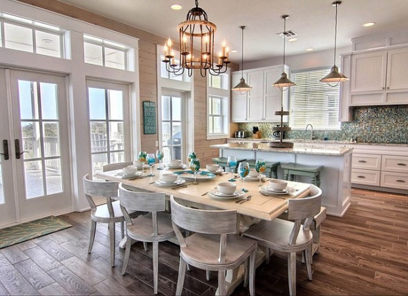 coastal kitchen entertaining