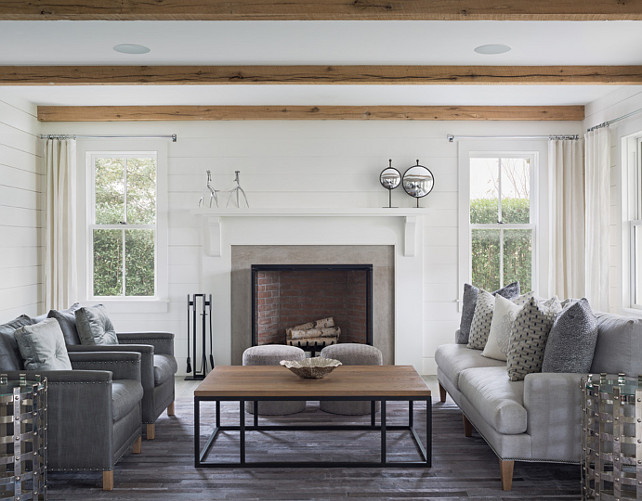 Living Room Fireplace and Furniture Layout. #LivingRoom #Fireplace