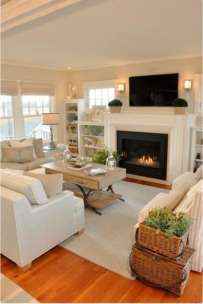 neutral living room decor Dream Beach Cottage with Neutral Coastal Decor - Home Bunch Interior Design Ideas