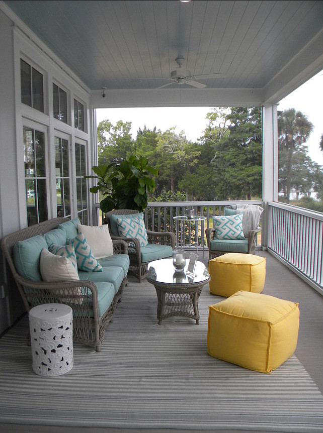 Beach House With Colorful Interiors Home Bunch Interior - Patio Furniture Ideas Design
