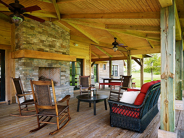 A Day at the Ranch in Pine Creek - Home Bunch Interior ... on Back Deck Ideas For Ranch Style Homes  id=59515