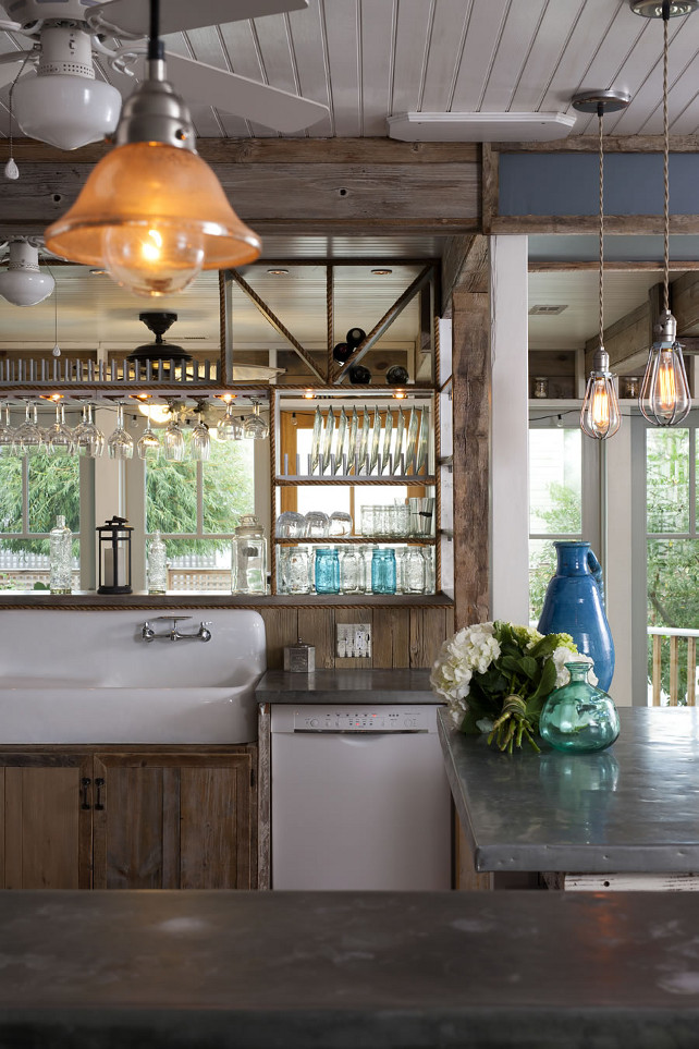 Renovated Beach House with Rustic Coastal Interiors - Home ... on Rustic:mophcifcrpe= Cottage Kitchen Ideas  id=20986