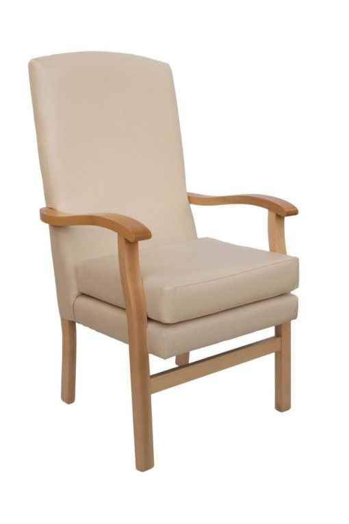 Erin Lounge Chair with 2 seat heights, www.homecarechairs.co.uk , high seat chairs, Fireside Chairs, high back chairs, wingback chair, elderly chairs.