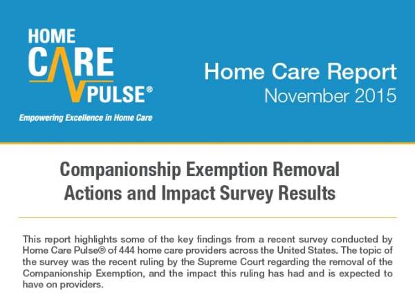 Companionship Exemption Survey Results | Home Care Pulse