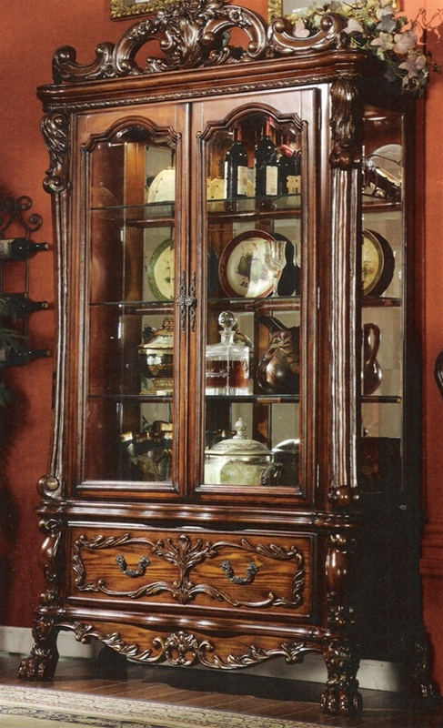 Dresden Curio In Cherry Finish By Acme 12158