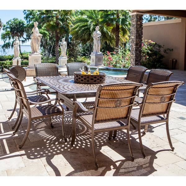 palladio 10pc patio firepit dining set by bridgeton moore 11108261