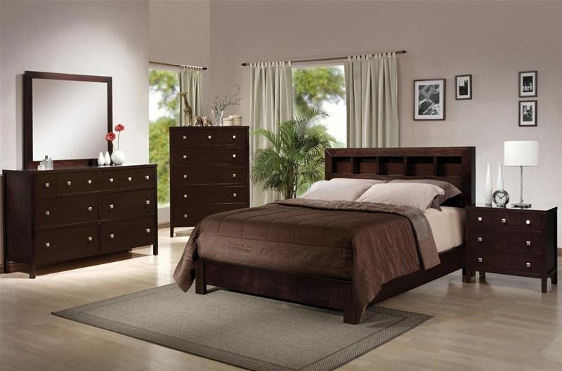 alden 6 piece bedroom suite in espresso finish by crown mark b4100