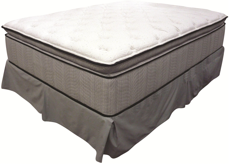 king koil spine support delaney queen jumbo pillow top mattress by coaster 350004q