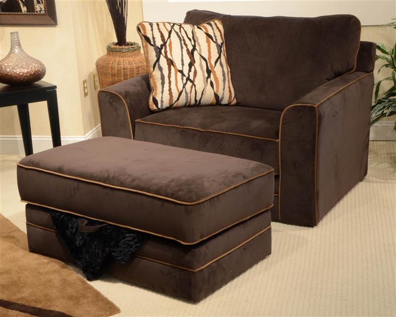Coronado Oversized Chair In Chocolate Fabric By Jackson 4460 01 CH