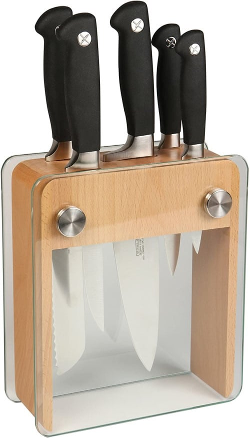 Mercer Culinary Genesis 6-Piece Knife Block Set
