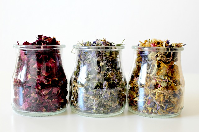 Dried flowers and herbs