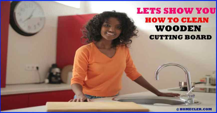 how to clean a wooden cuttting board