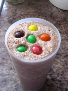 How to make a peanut butter m&m frappuccino/frappe