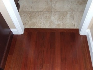 Hardwood To Tile Transition How To Make The Transition | Tile To Wood Stair Transition | Builder Grade | Upstairs | Residential | Laminate | Entryway