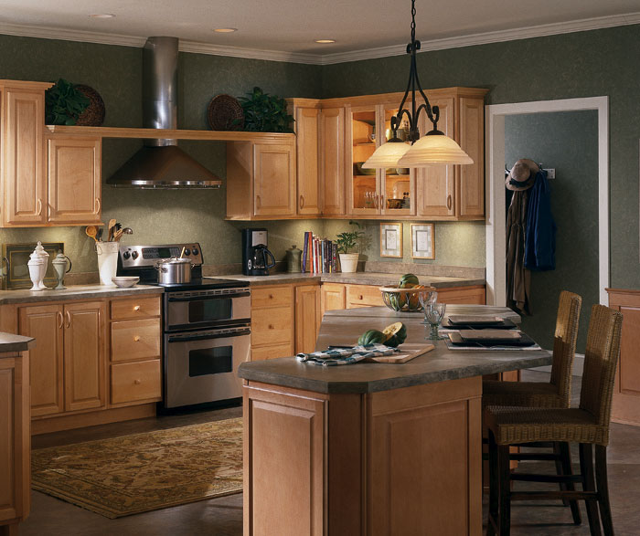 Contemporary Maple Kitchen Cabinets - Homecrest on Natural Maple Cabinets  id=20631