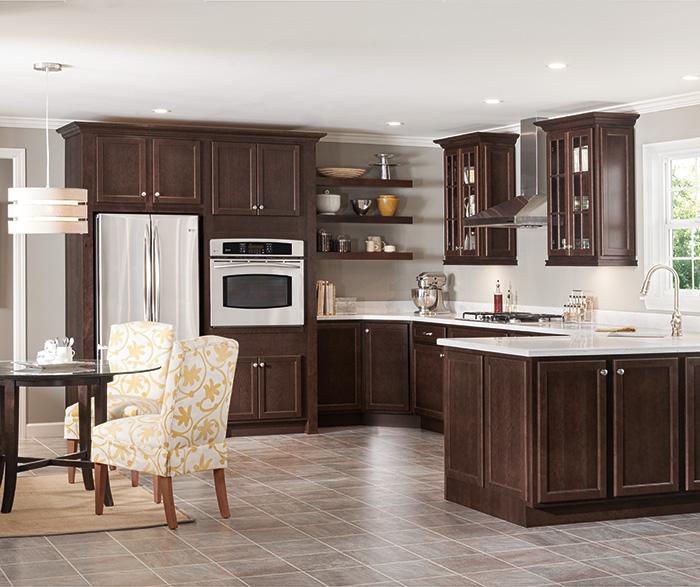 Contemporary Maple Kitchen Cabinets - Homecrest on Dark Maple Cabinets  id=48747