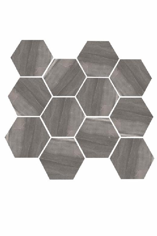 eleganza dark gray matte marble look hexagon tile yi6s1217 hex