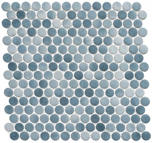 polka dot series plk66 seashore waves penny round tile