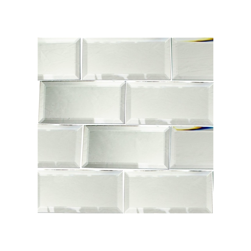 mirror classic 3x6 beveled mirror subway tile by soho studio mrrcls3x6bev