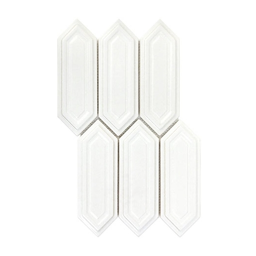 soho studio baroque sequin blanco elongated hexagon hexagon tile brqseqnblnc