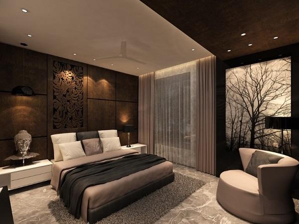 brown bedroom design decor for modern