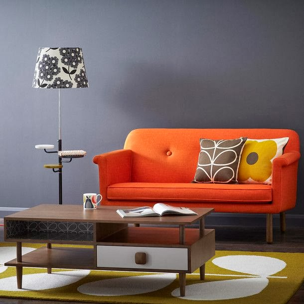 Furniture Ideas Orange Sofas