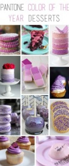 2014 Pantone Color of the Year Desserts | Radiant Orchid