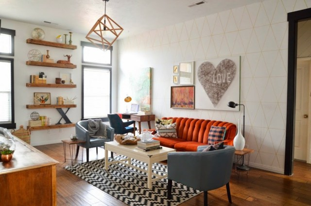 Open Shelves in living rooms