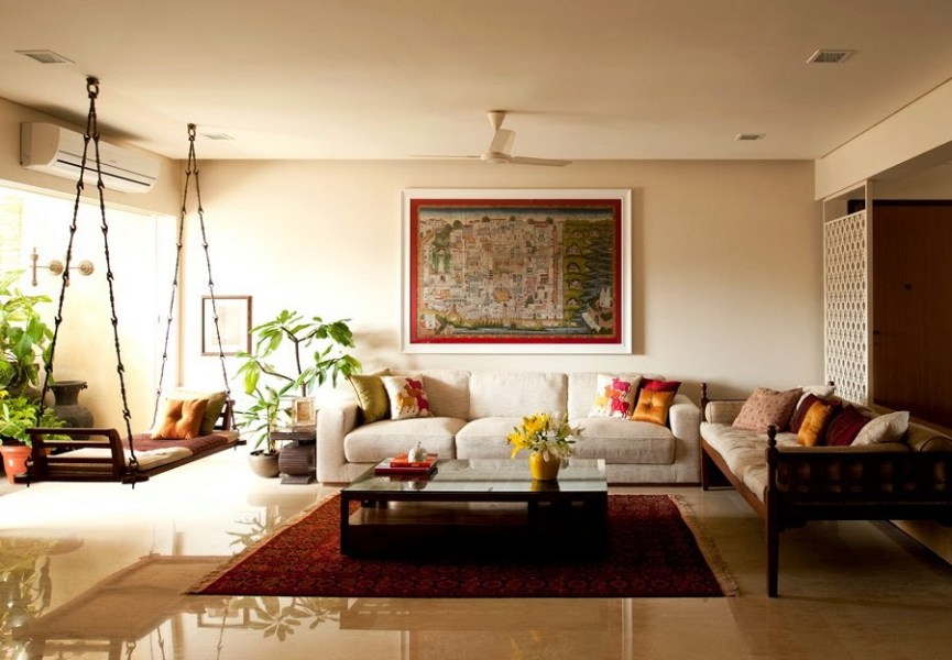 Traditional Indian Homes   Home Decor Designs Traditional Indian Homes with a swing