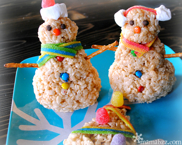 Decorate-Rice-Krispies-Snowmen