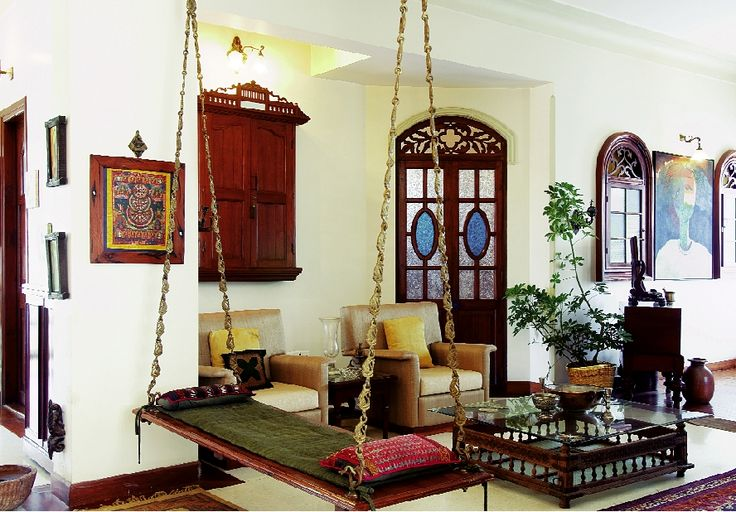 simple home decor ideas indian oonjal wooden swings in south indian homes 697