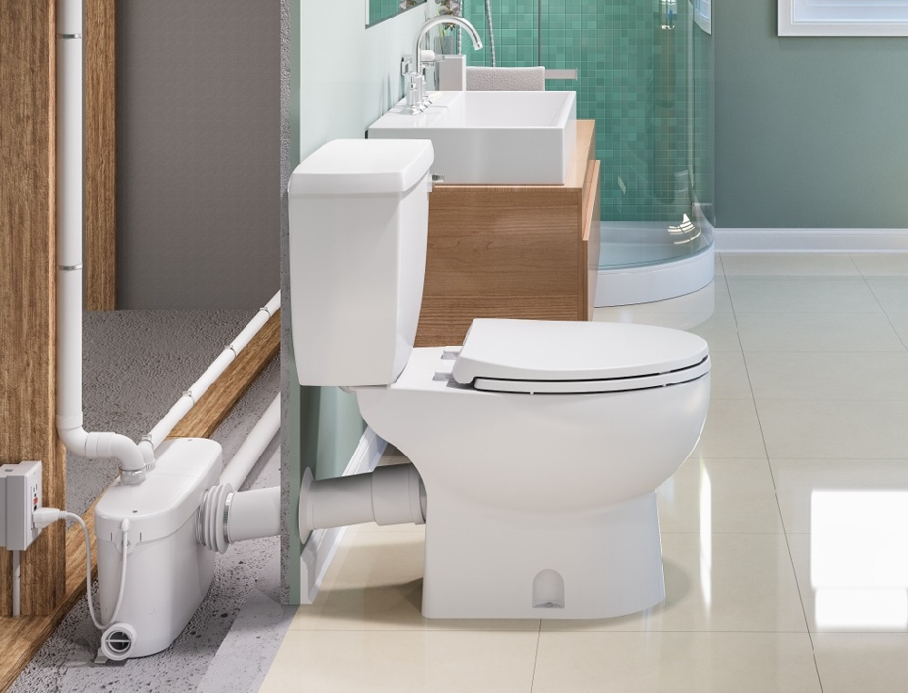 Have A Daydream For A Basement Bath A Macerating Toilet Can Make It Happen