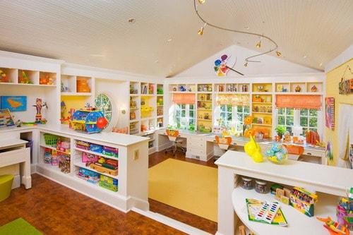 Kids Craft Room Transitional Divider Ideas