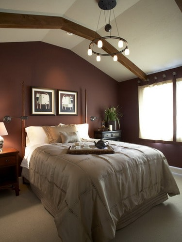 how to decorate your bedroom with brown accent wall home on master bedroom wall color id=14024