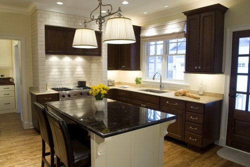 The Best Ideas for Decorating Dark Kitchen Cabinets - Home ... on Traditional Kitchen Wall Decor  id=86726