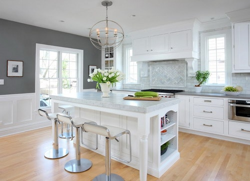 Amazing Cabinet Ideas for White Kitchen Designs - Home ... on Traditional Kitchen Wall Decor  id=25391