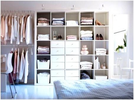 bedroom with open dressing room