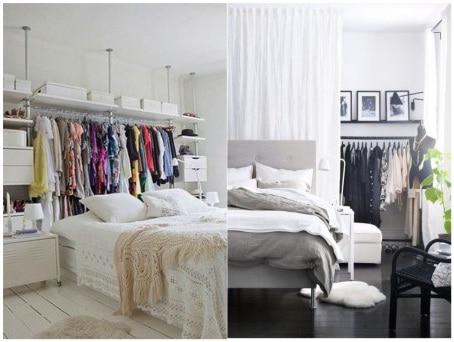 Open dressing room bedroom designs
