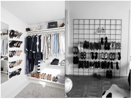 Wall mounted shoes rack