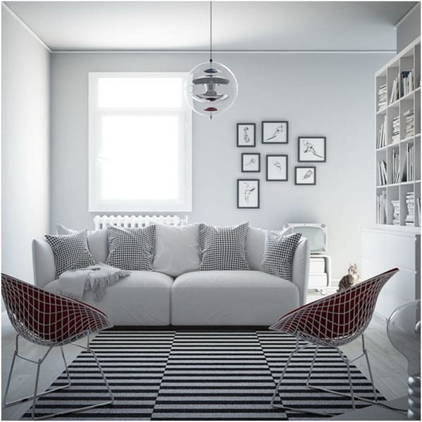 Small living room Nordic style furniture ideas