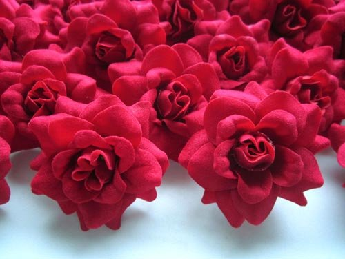 100 Silk Red Roses Flower Head 175 Artificial