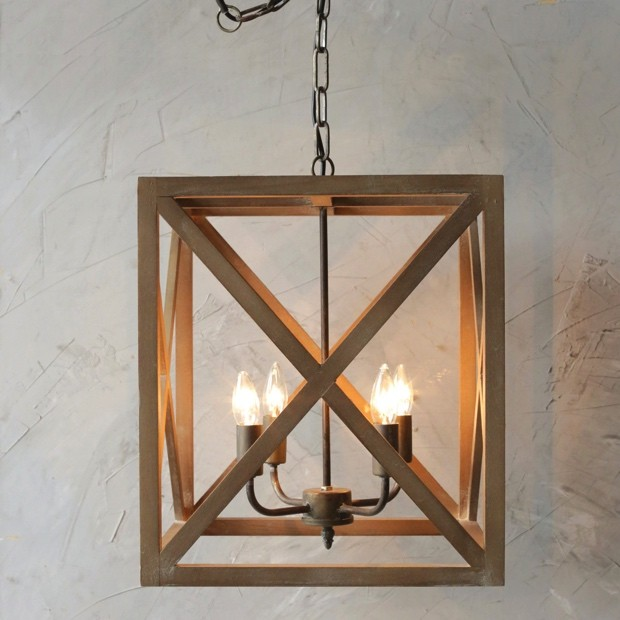 metal-and-wood-square-chandelier