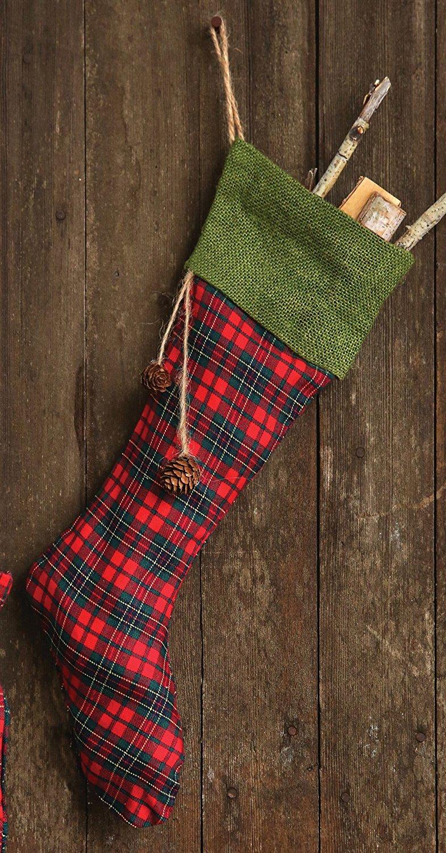 plaid-stocking