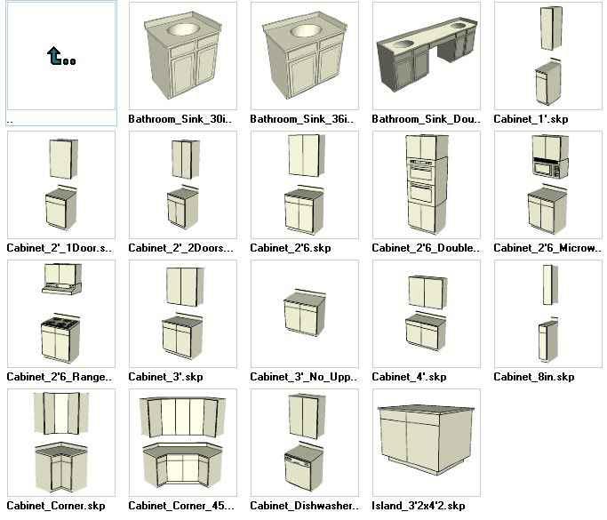 Sketchup Cabinetry 3D models download