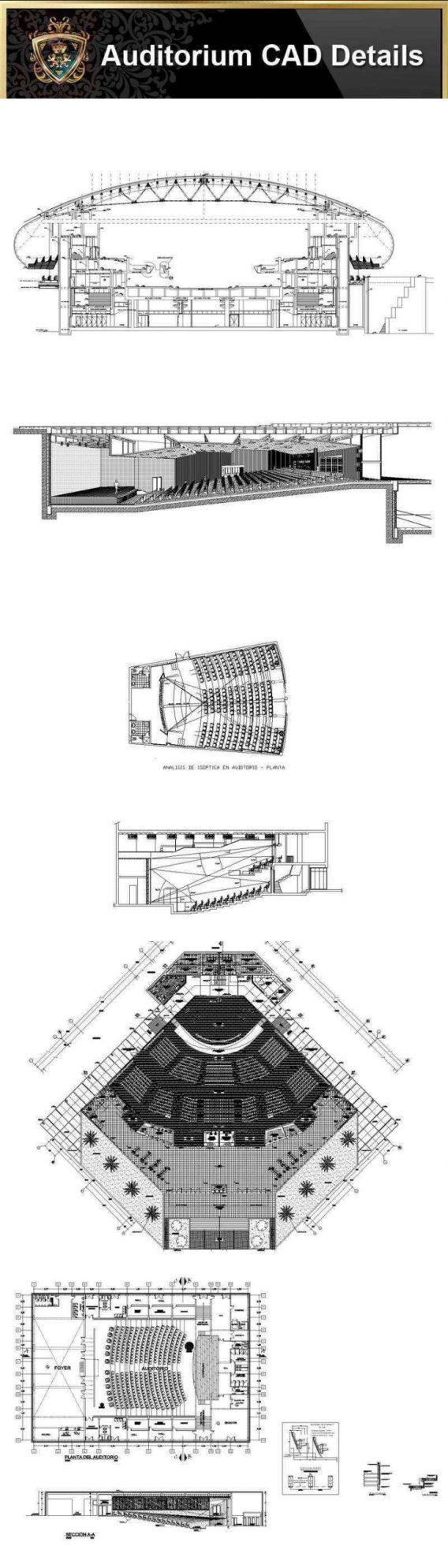 Auditorium Design,Autocad Blocks,AuditoriumDetails,Auditorium Section,Auditorium elevation design drawings