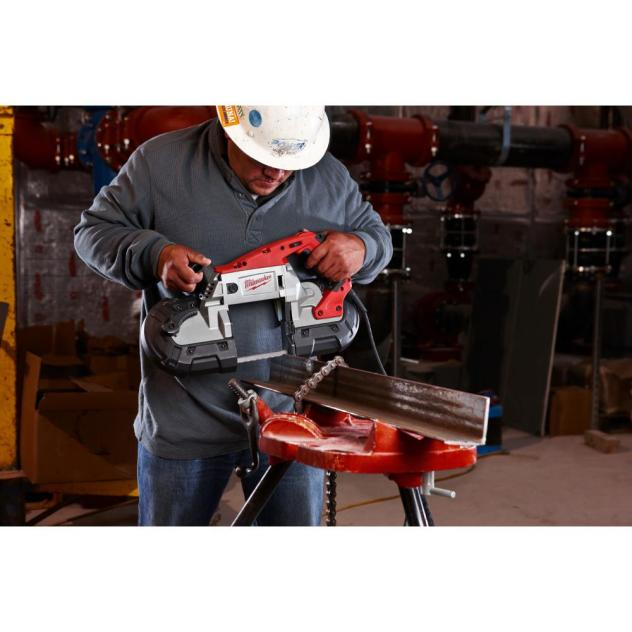 milwaukee portable band saw milwaukee 6232 21 cut portable variable speed band 28689